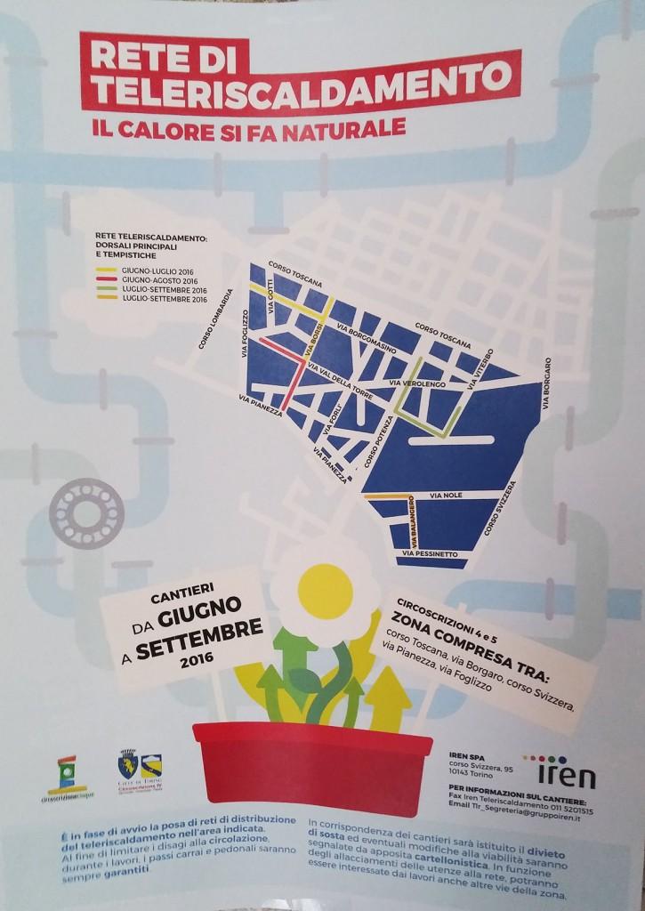 Mappe affisse all'interno dei condomìni