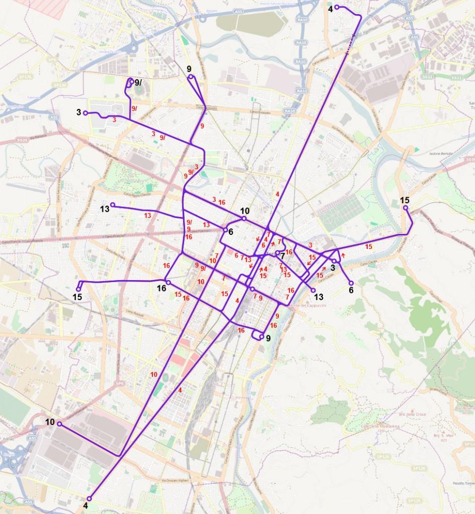 rete tranviaria torinese (giugno 2016, estrapolata da Wikipedia.org)