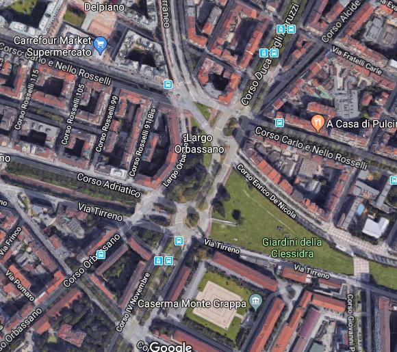 La stazione Zappata, sotto il giardino della Clessidra